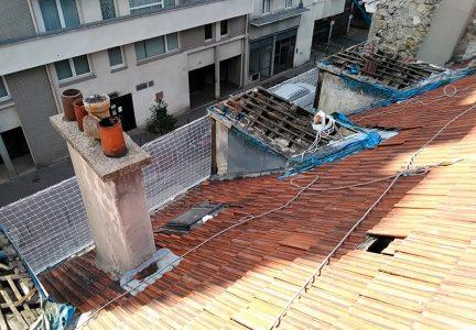 filet de sécurité toiture